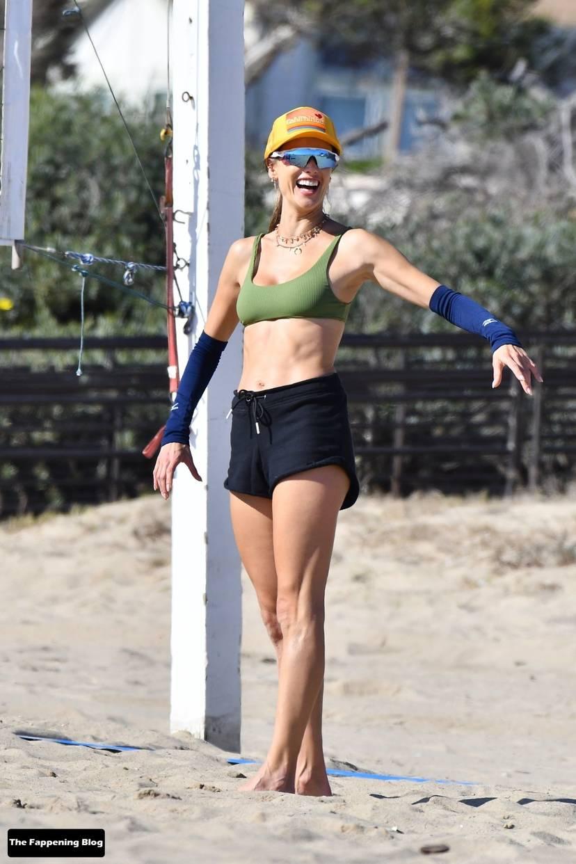 Alessandra Ambrosio on Beach 6