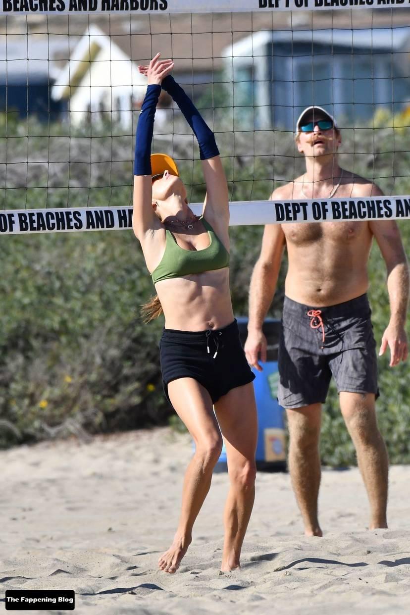 Alessandra Ambrosio on Beach 46