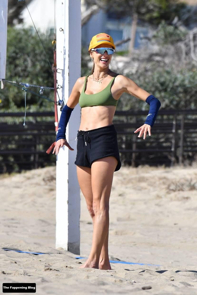 Alessandra Ambrosio on Beach 49