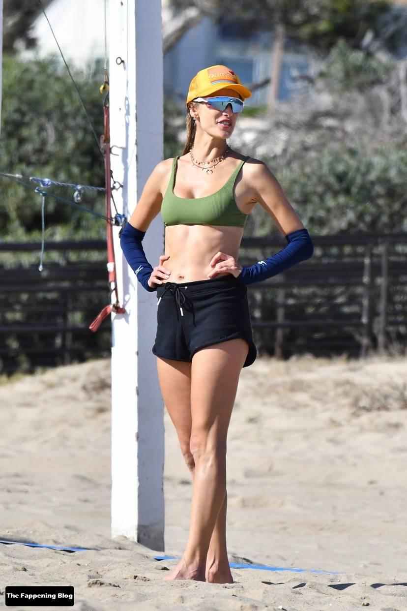 Alessandra Ambrosio on Beach 50