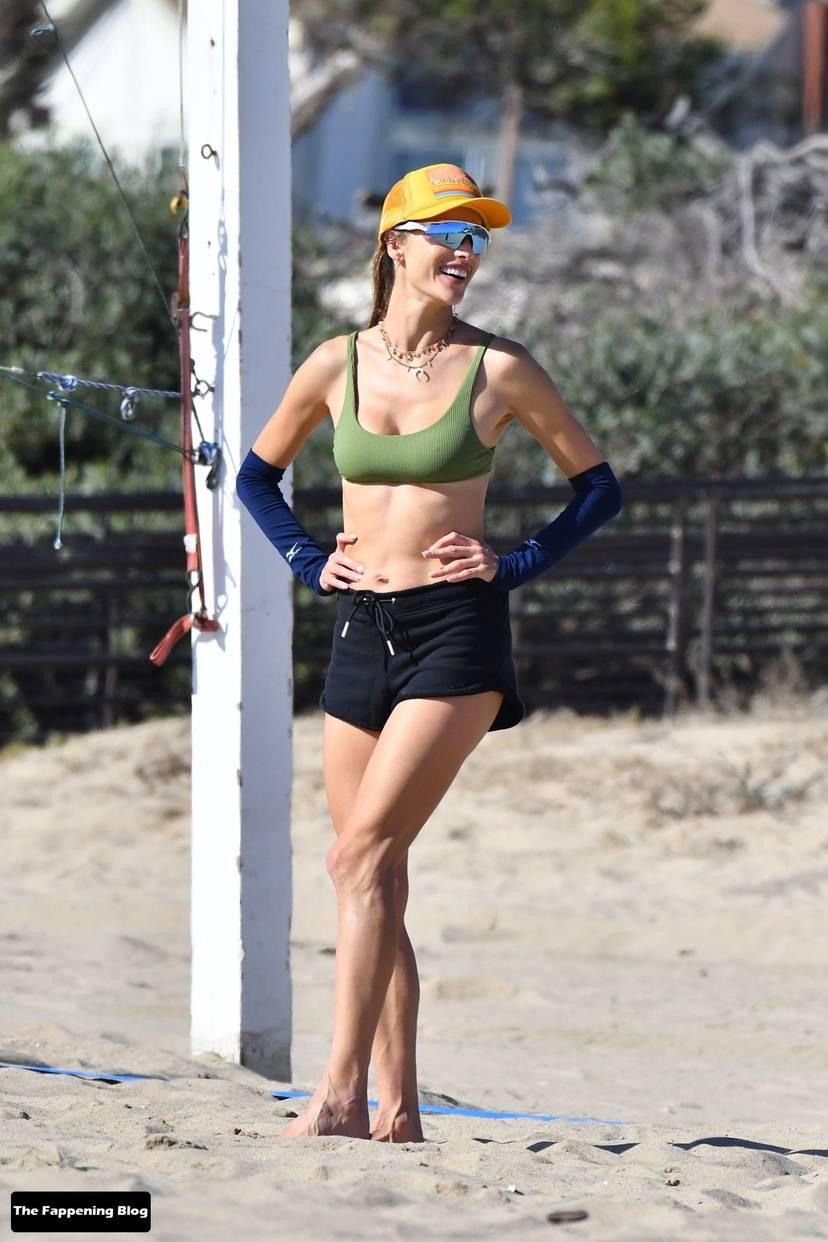 Alessandra Ambrosio on Beach 52