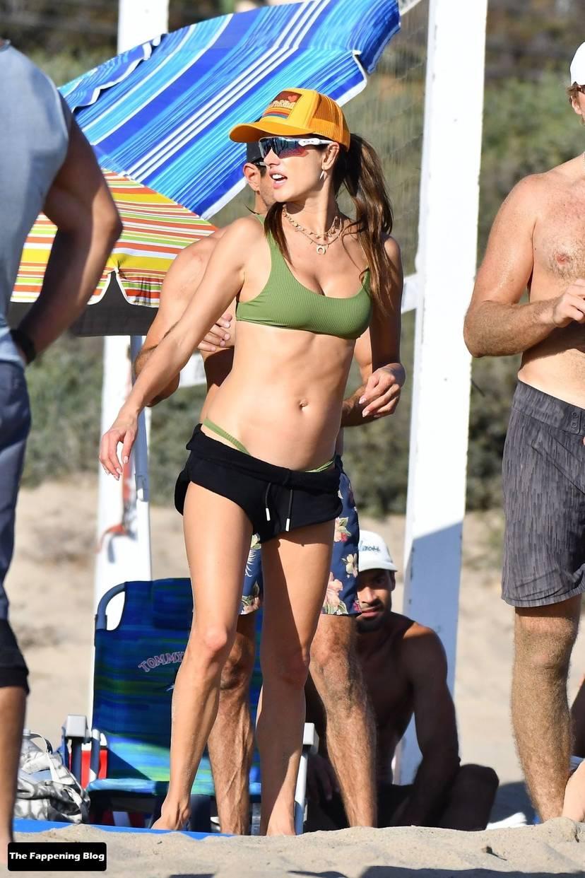 Alessandra Ambrosio on Beach 55