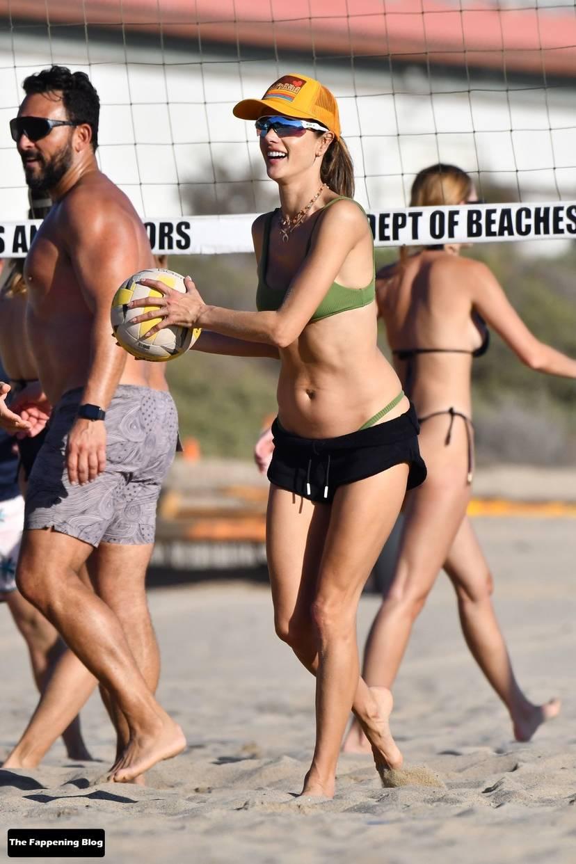 Alessandra Ambrosio on Beach 72
