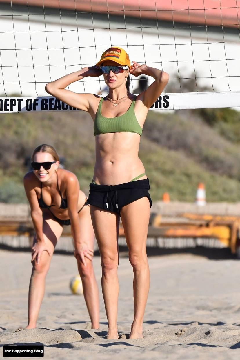 Alessandra Ambrosio on Beach 94