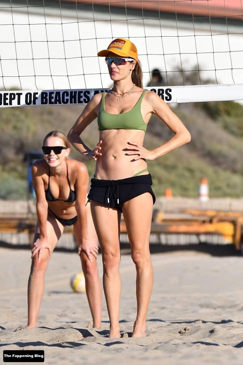 Alessandra Ambrosio on Beach 95