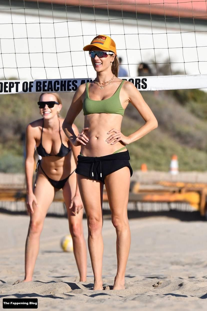 Alessandra Ambrosio on Beach 96