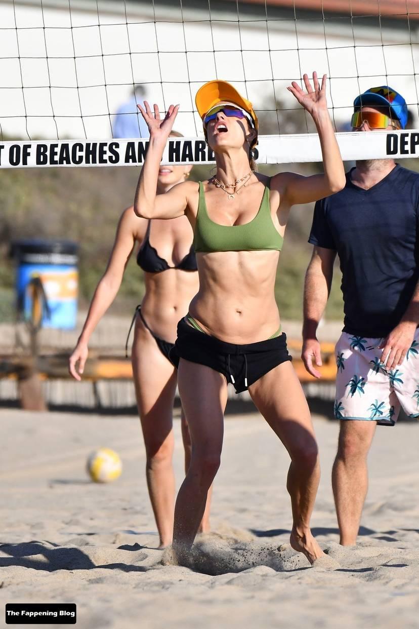 Alessandra Ambrosio on Beach 98
