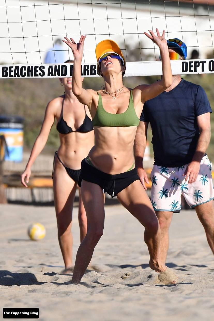 Alessandra Ambrosio on Beach 99