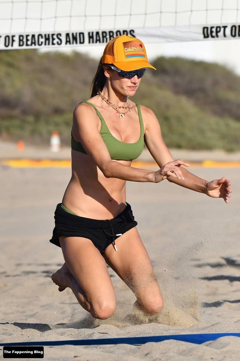 Alessandra Ambrosio on Beach 108
