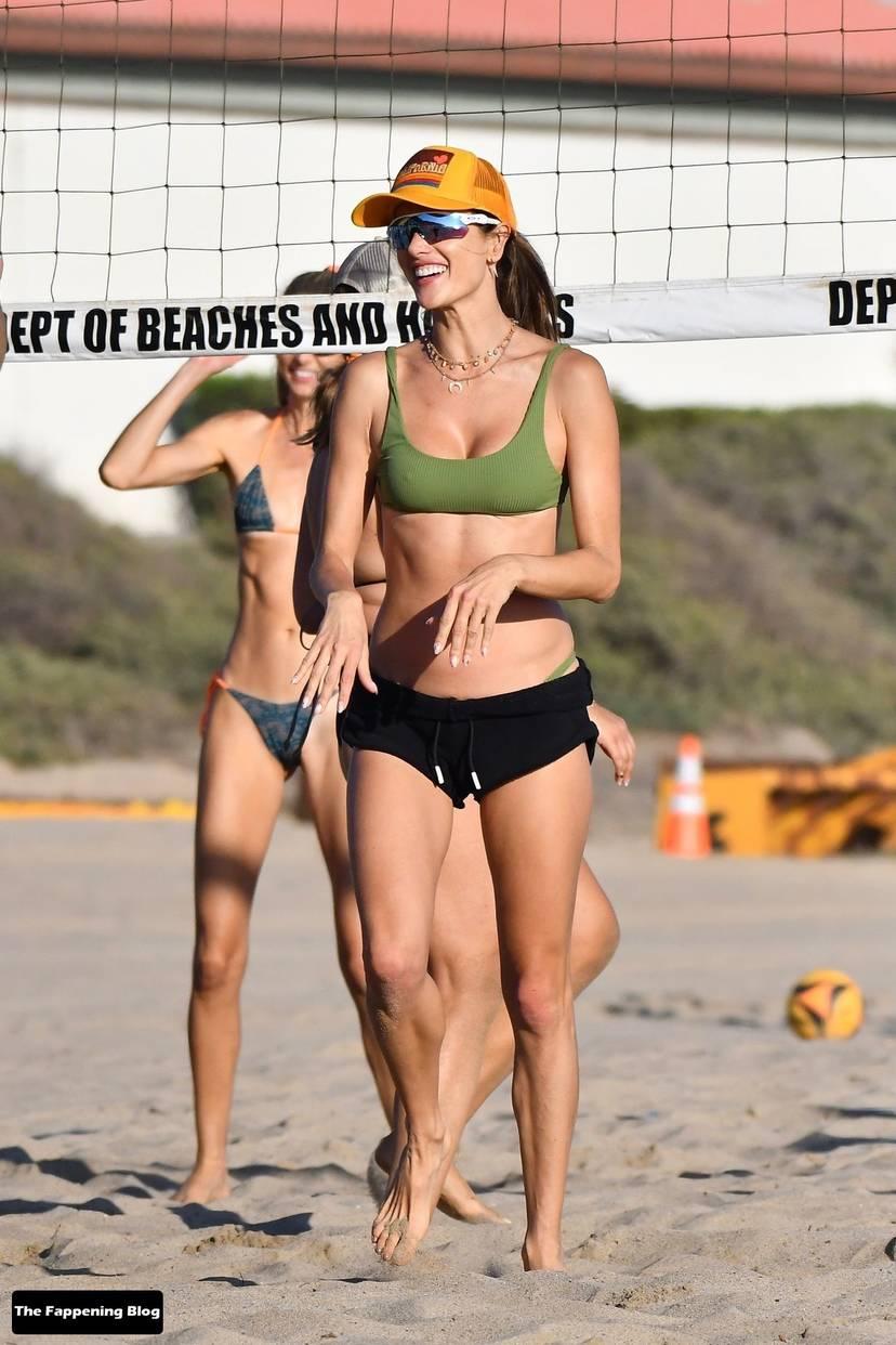 Alessandra Ambrosio on Beach 115