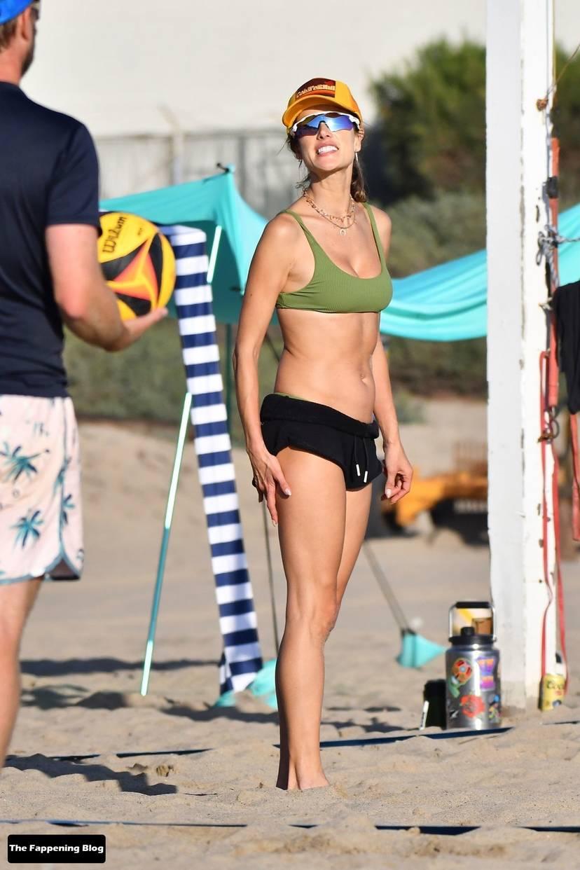 Alessandra Ambrosio on Beach 130