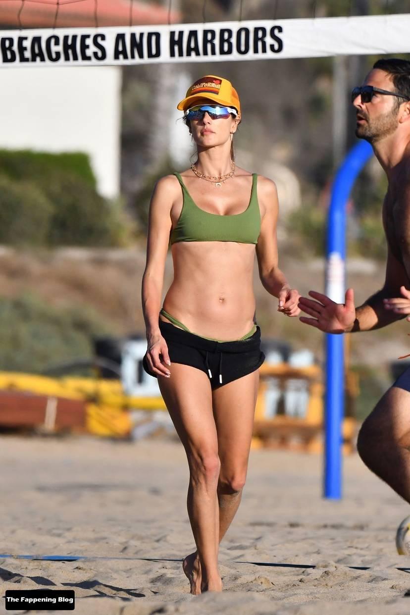 Alessandra Ambrosio on Beach 140
