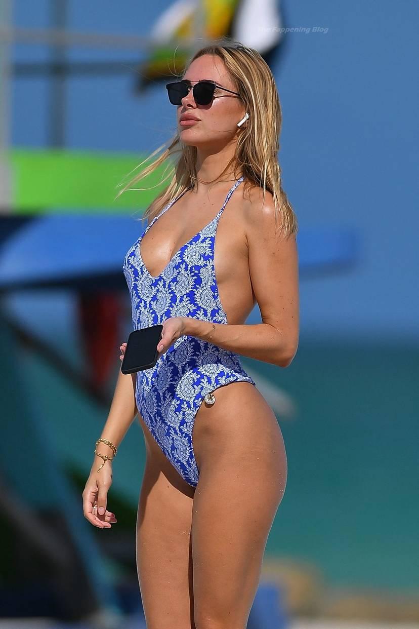 Kimberley Garner on Beach Swimsuit 4
