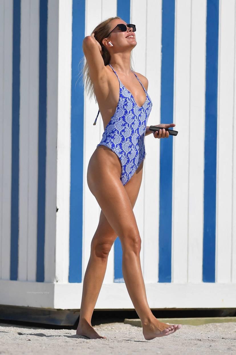 Kimberley Garner on Beach Swimsuit 7