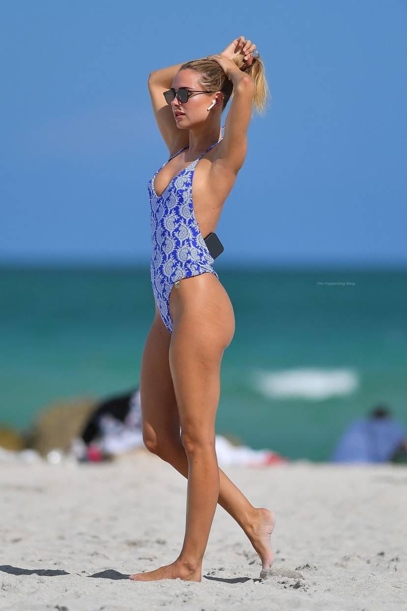Kimberley Garner on Beach Swimsuit 8