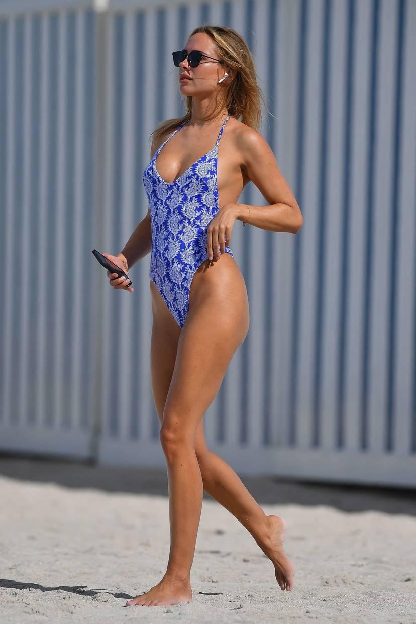 Kimberley Garner on Beach Swimsuit 11