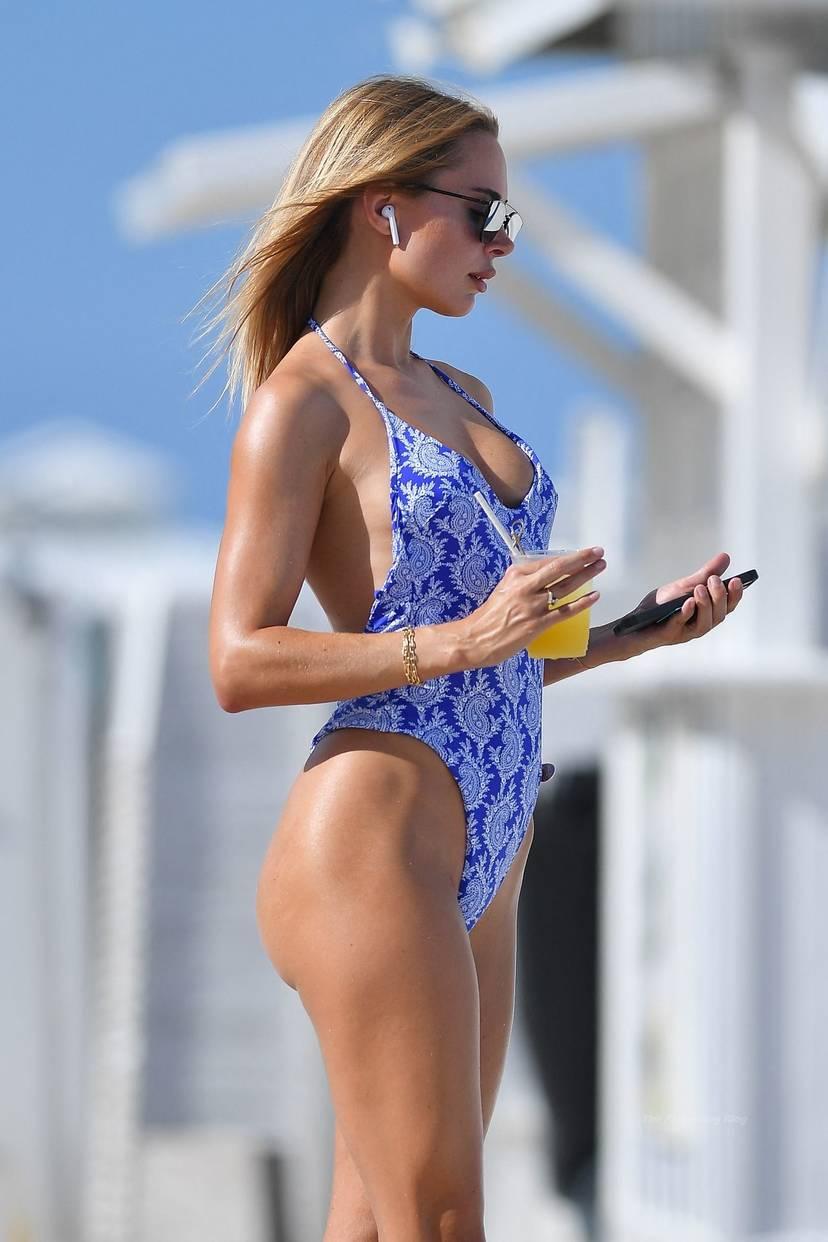 Kimberley Garner on Beach Swimsuit 17