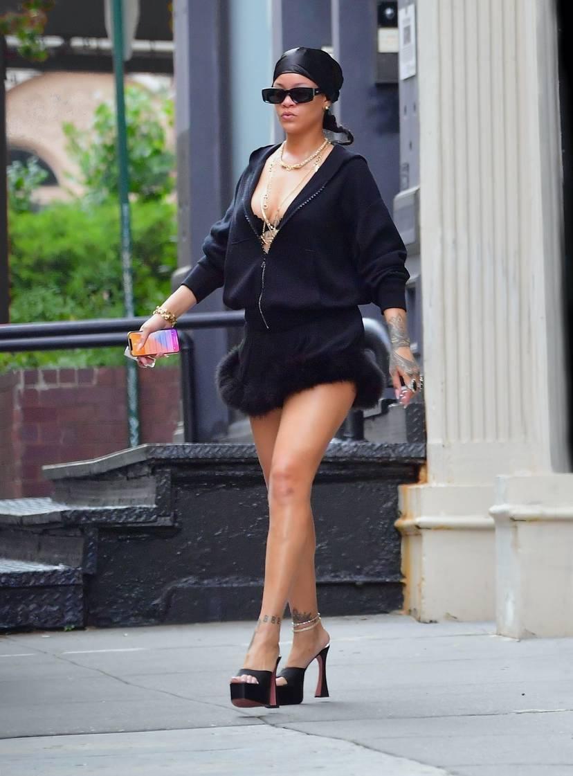 Rihanna Sexy Slip Dress 4