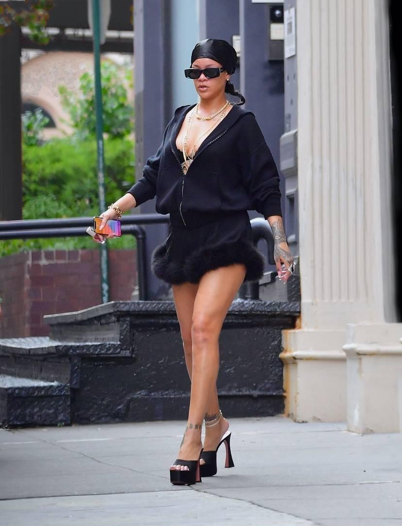Rihanna Sexy Slip Dress 7